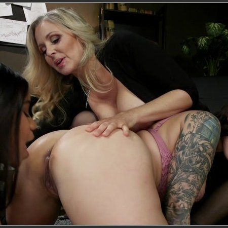 Smack Her Ass: New Hire Ivy LeBelle Submits To Jenna Foxx and Julia Ann | HD 720p