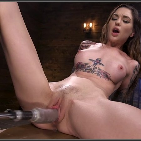 Sexy Alt Girl Rocky Emerson Has Nonstop Orgasms From Fucking Machines | HD 720p