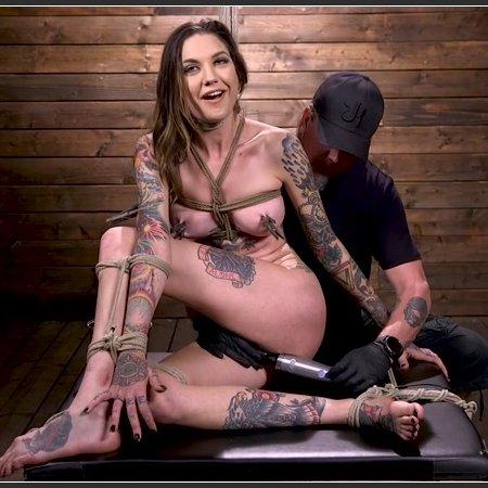 Tall Tattooed Slut in Grueling Bondage is Blissfully Suffering | HD 720p