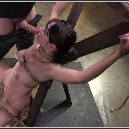 Petite Pain Slut Violet Monroe in Rope Bondage and Brutal Anal Fucking | HD 720p