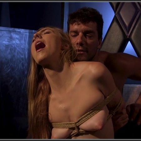 Skinny Blonde Slut Alexa Grace in Sadistic Rope Bondage Pussy Fucking | HD 720p