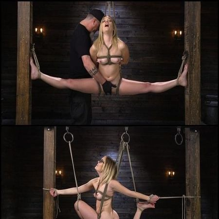 KATIE KUSH: BLONDE, ALL NATURAL, FLEXIBLE SLUT IN GRUELING BONDAGE | HD 720P