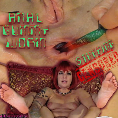 SensualPain - Anal Gummy Worm Stuffing Censored | Abigail Dupree