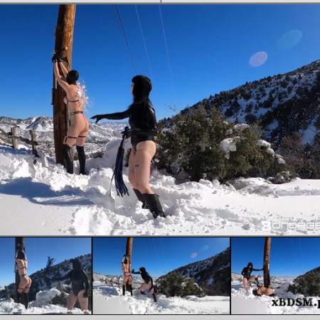 BondageLife - Winter Wonderland Flogging - Rachel Greyhound, Lita Lecherous